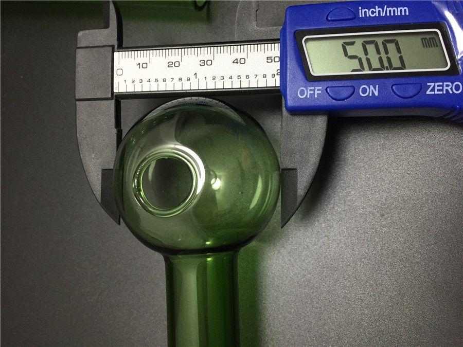 Misturado colorido Pyrex grande queimador de óleo de vidro claro queimador de óleo de vidro tubo de tubo de vidro da tubulação de vidro prego