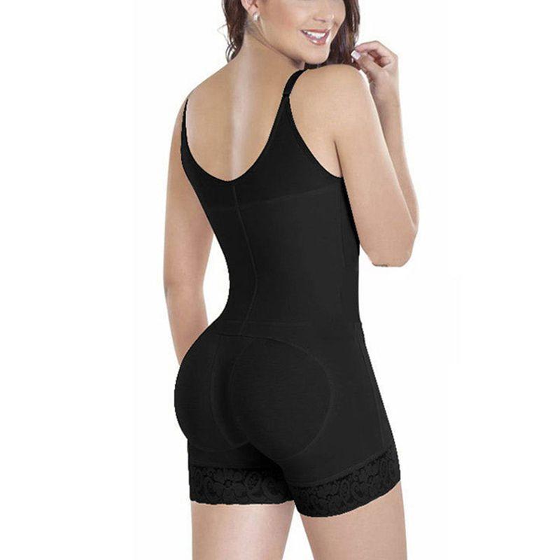 Underwear Women Bodysuit Sexy Underbust Body Shaper Slimming Shapewear Waist Trainer Plunge U Zipper Push Up Butt Lifter Seamless
