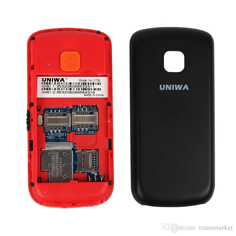 Uniwa V708 Original Mobile Phone Dual SIM Card Charging Cradle 2G Cellphone SOS Button Blutooth 2.0 Cheap cell phones