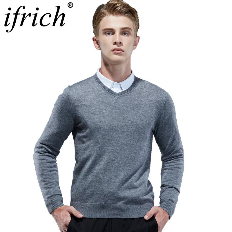 e07f7e77e6b 2019 Winter Henley Neck Sweater Men Cashmere Pullover Christmas Sweater Mens  Knitted Sweaters Pull Homme Jersey Hombre 2018 Plus Size From Yujian18