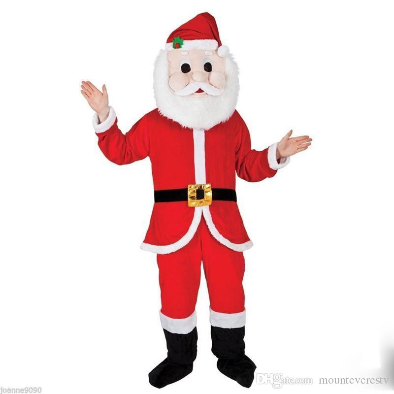 2017 Factory Made Custom Made Santa Claus Mascot Costume Christmas Day Adult Size Cartoon Costume Party Fancy Dress Christmas Costume