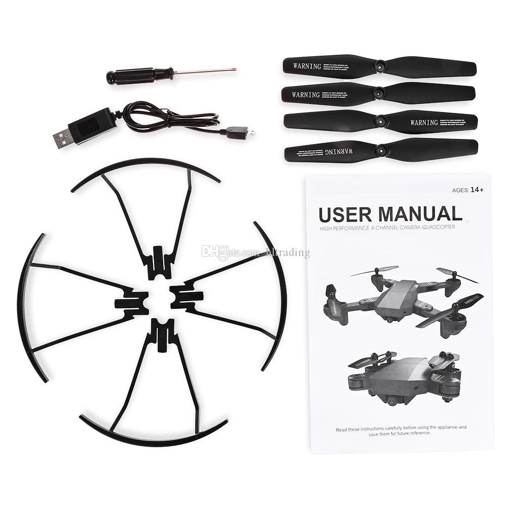 XS809W Quadcopter Aircraft Wifi 4 Axis Altitude Hold Function RC Drone with HD 2MP Camera Drone RC Toy Foldable Drone C3846