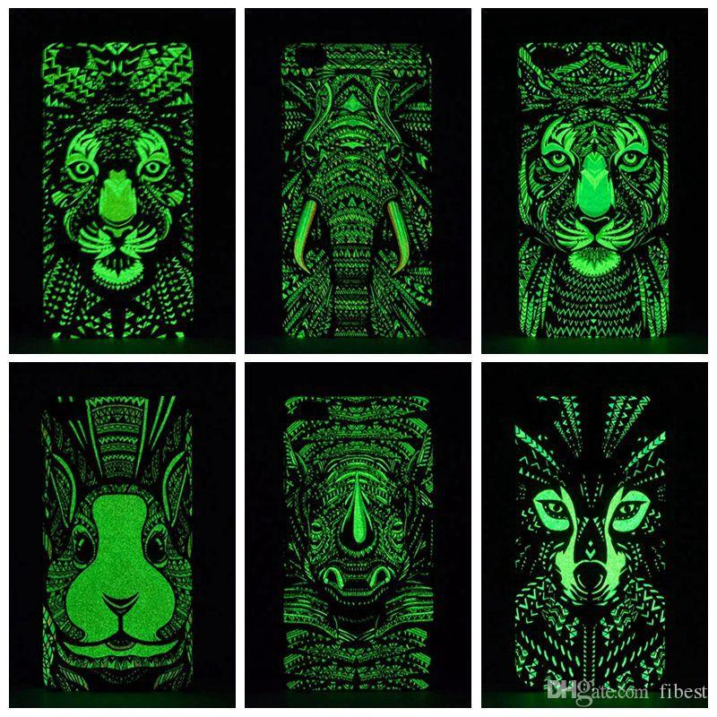 Luminous Phone Case For iPhone X Xs Max 7 8 Plus Forest King Cases Glow In The Dark Animals Lion Pattern Back Cover