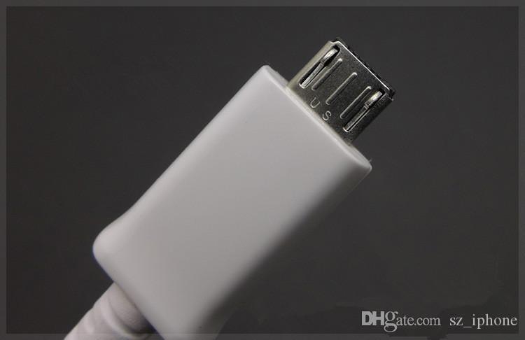 1,5 m USB-Kabel 100% echtes Micro v8 Data Fast Charger-Kabel für Samsung S4 s6 I9500 Hinweis 2 4 ECB-DU4EWE 5 V 2A 9 V 1,67 A USB-Kabel