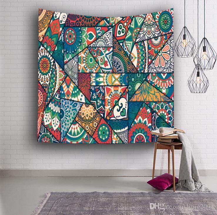 Duvar Goblen 3D Baskılı Bohemian Hint Goblen Duvar Halı Ev Asılı Goblenler Polyester Piknik Levha Masa Örtüsü