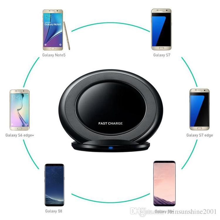Qi Wireless Charger Fast Vertical Charging Pad Charge Dock Cellphone Holder For iPhone 8 Plus iPhone X Samsung Galaxy S7 S8 Note5