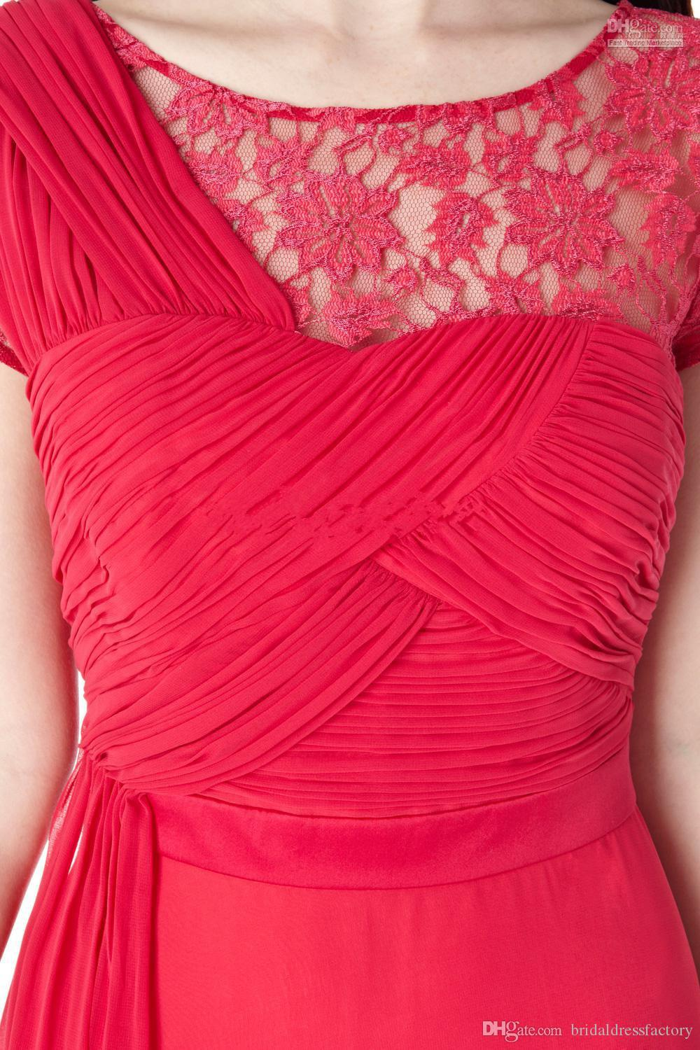 2018 new hot sexy short colorful vestidos de festa cap sleeve gala red lace chiffon party prom dresses custommade evening dress