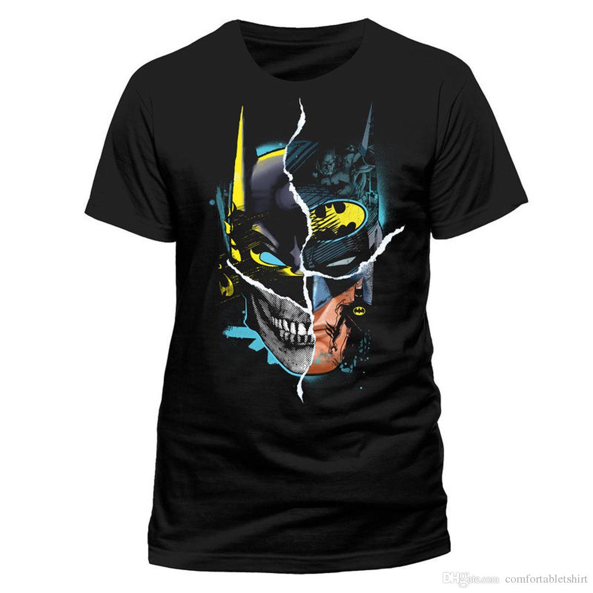 premium selection 88b99 92547 Batman Gotham Faces DC Comics Bruce Wayne offiziell Männer T-Shirt Herren
