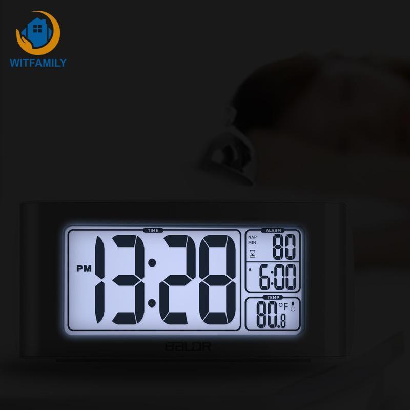 Desktop Digital LED Despertador Watch Snooze Reveil Matin Desk Alarm Clock  White Backlight Timer Projector Electronic
