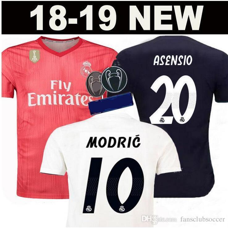 14cb43169eb3 18 19 Real Madrid Soccer JERSEYS ASENSIO Ronaldo 2018 2019 13 Cups ...