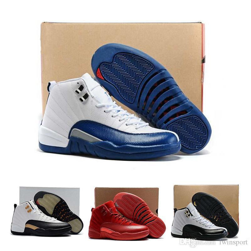 18cf3f7208d79 Acheter Nike Air Jordan 12 AJ 12 Nouvelles Chaussures De Basket Ball 12 12  S Mens Chaussure Michigan Doernbecher Cllege Navy Bulls Le Master Jeu De  Grippe ...