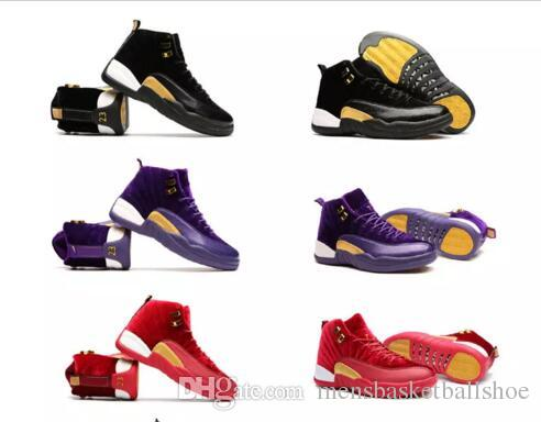 free shipping best place 2018 New 12 Basketball Shoes Women 12s XII Red Black Blue Purple Velvet Heiress Sneakers High Quality Athletic Outdoor Trainers Boots With B pictures sale online low price fee shipping cheap price ykOc3uMfq