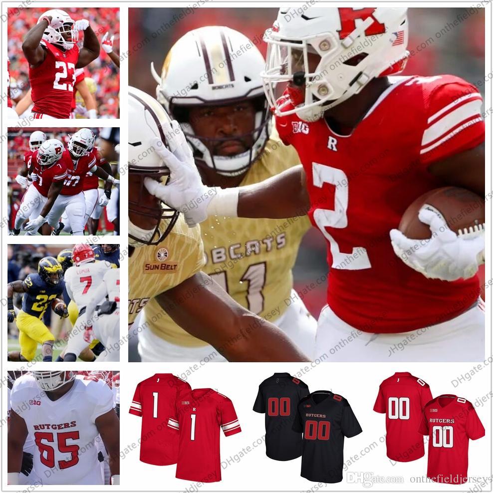 2019 Rutgers Scarlet Knights NCAA College Football Jerseys  8 Artur  Sitkowski 2 Raheem Blackshear 23 Jonathan Hilliman 7 Elorm Lumor S 4XL From  ... e8c29e8e6