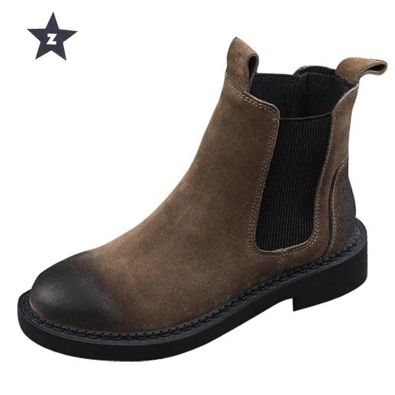 8480cfb0aba0 Z Mid Calf Boots Women Leather Shoes Casual Booties Design Handmade Matte Leather  Boots Women Female Ankle Booties Combat Boots For Women From Bestname