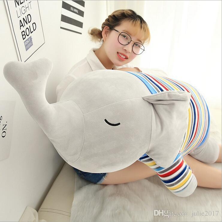 Kawaii Elephant Plush Toy Stuffed Plush Animal Long Nose Elephant Doll Super Soft Kids Baby Pillow Cushion Cartoon Home Decor