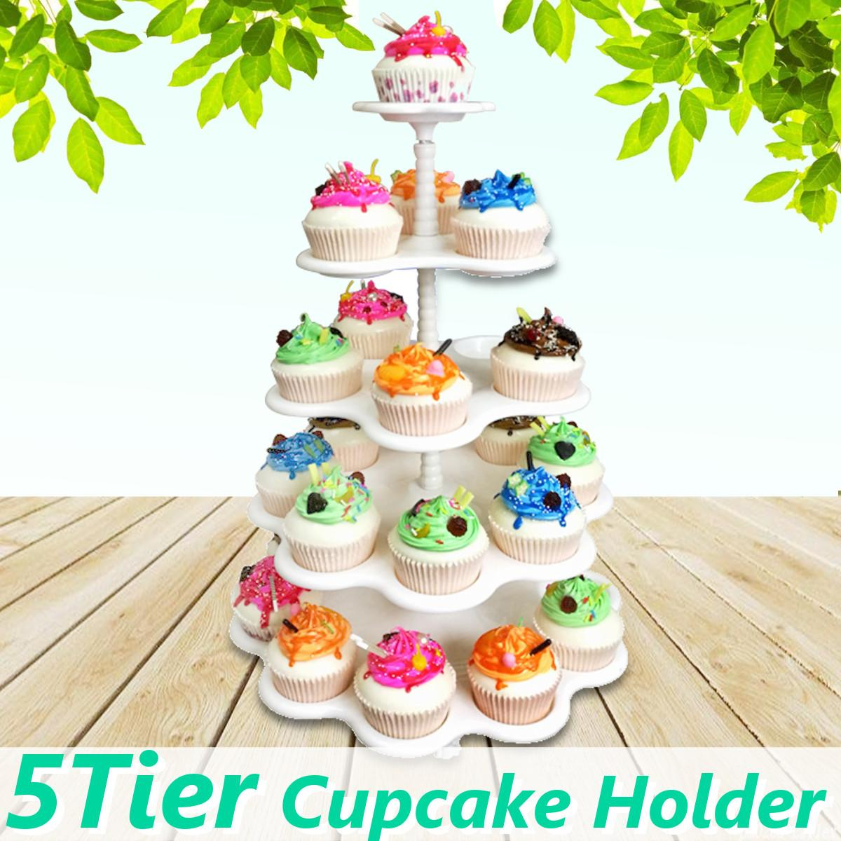 2019 Birthday Party 5 Tiers Cupcake Holder Cake Stand White Dessert Display Decorating Tools Wedding Decoration Supplies From Haolinhome