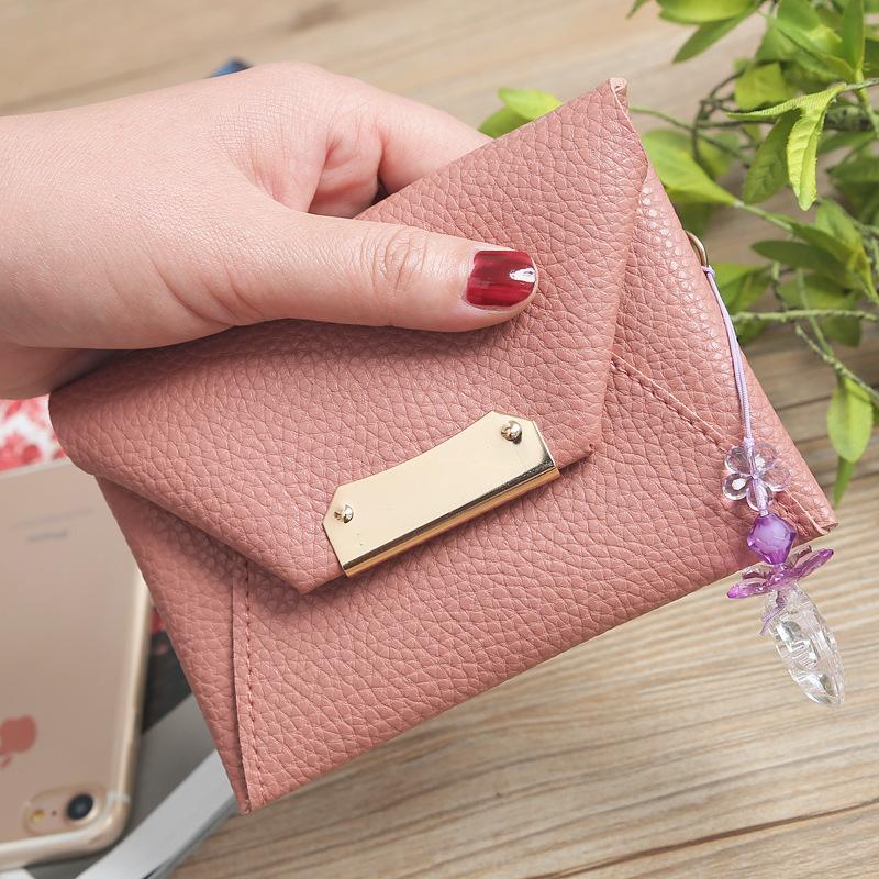 fc8a616b514b8 Großhandel Mode Exquisite Mini Brieftasche Damen Litschi Muster Niedlich  Student Münze Geldbeutel Schlüsseletui Von Yongfengbaobao