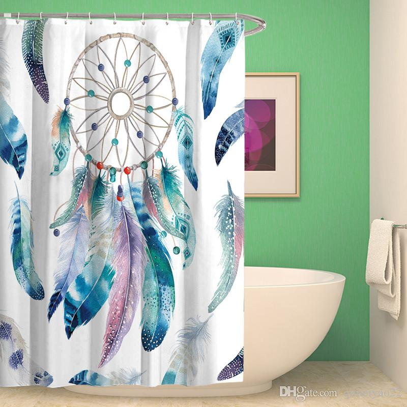 2019 Dream Catcher Print Shower Curtain Waterproof Bathroom Curtains High Quality Polyester Bath For Home Decor From Qimeiyao22 2111