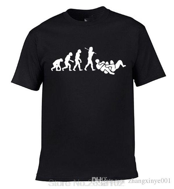 d66256ce9 Bjj Brazilian Jiu Jitsu Evolução T Shirt Da Camisa Dos Homens De Manga  Curta O Pescoço Camiseta De Algodão Presente De Aniversário Hip Ho T Shir T  Sh From ...