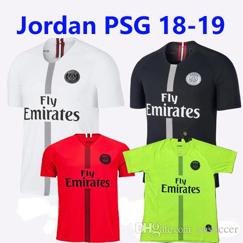 dc0ecf08b MEN S FOOTBALL SHIRT Source · 2019 Thai Quality Psg 3rd Champion Black White  Soccer Jerseys 2018