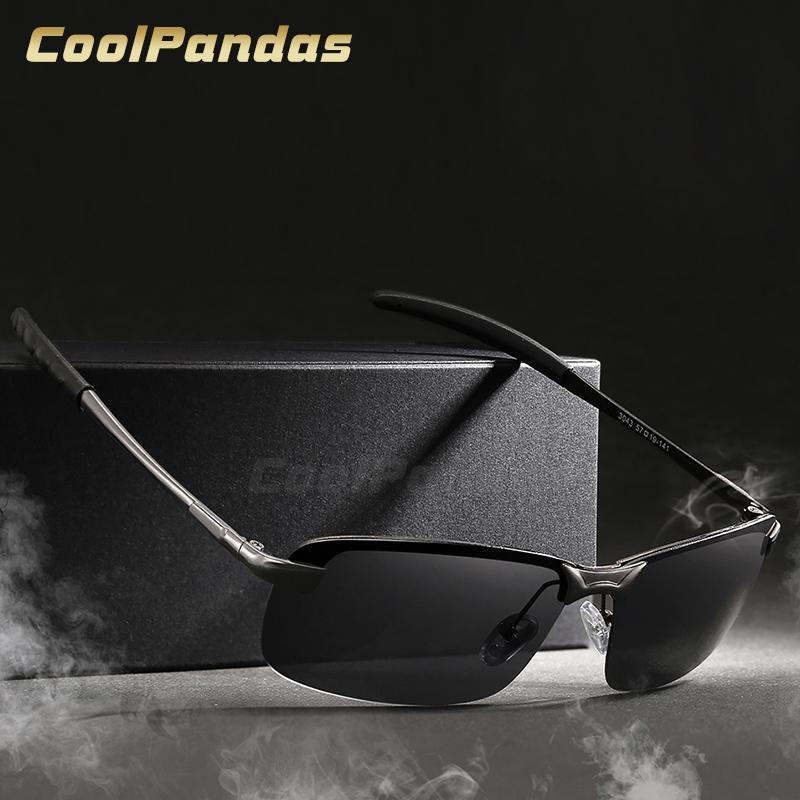b54a7c0b5 CoolPandas Anti Glare HD Polarized Men Sunglasses Brand Designer Metal Driving  Women Sun Glasses Oculos De Sol Masculino Ray Black Sunglasses Cycling ...