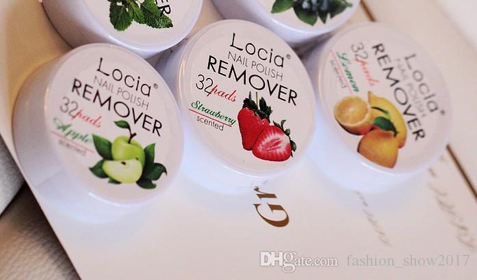 Yeni Locia Oje Çıkarıcı toksik Olmayan Meyve Lezzet Pamuk Tırnak Havlu Temizleyici UV Jel Oje Çıkarıcı