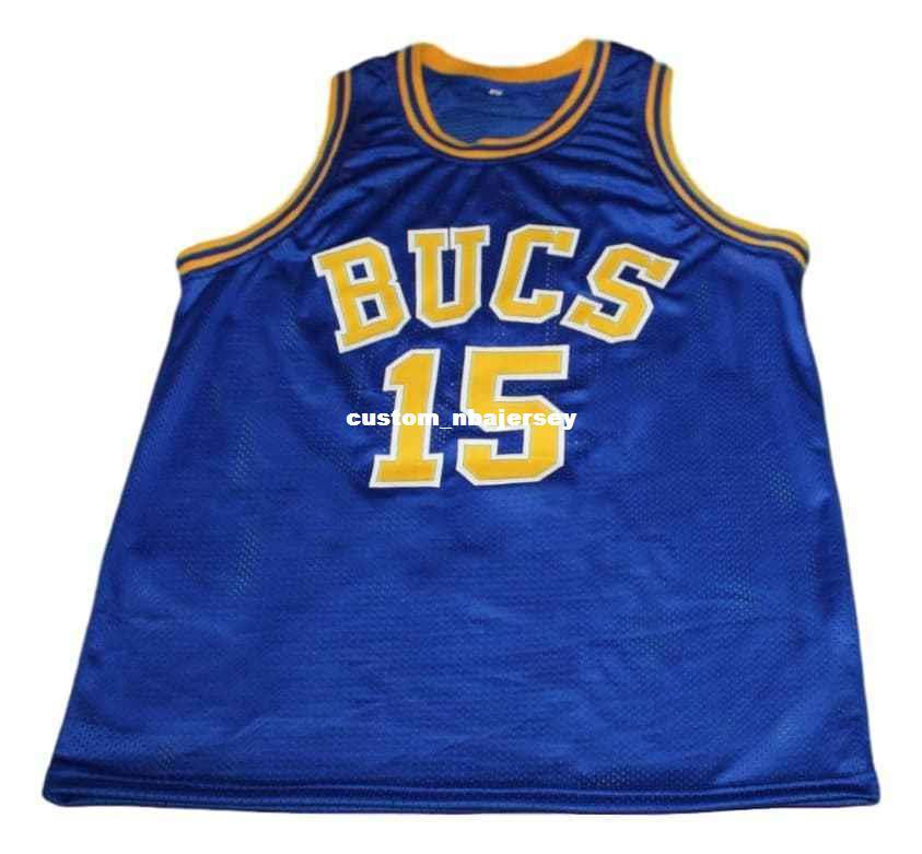 buy popular 8326f 7382c wholesale Vince Carter #15 Mainland Bucs New Basketball Jersey Blue  Stitched Custom any number name MEN WOMEN YOUTH BASKETBALL JERSEY
