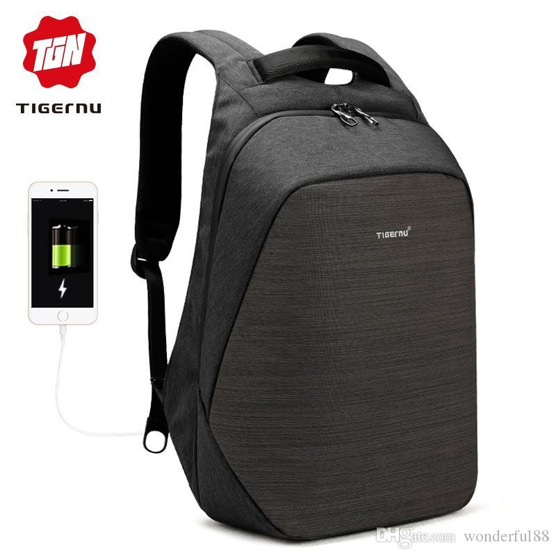 85c41d33ec Tigernu Anti Theft Laptop Backpack Usb Charging 15.6 Backpacks Men Slim  Waterproof School Backpack Bag Women Male Mochila Travel Justice Backpacks  Camping ...