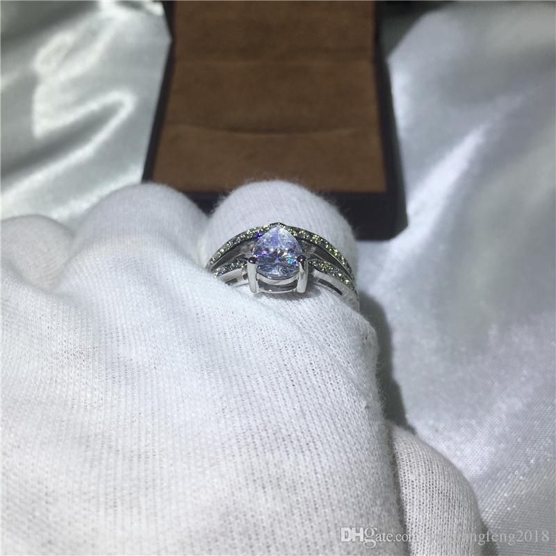 Moda Takı Benzersiz Tasarım Moda Takı 5A zirkon cz alyans yüzük kadınlar için 925 Ayar gümüş Kadın Yüzük