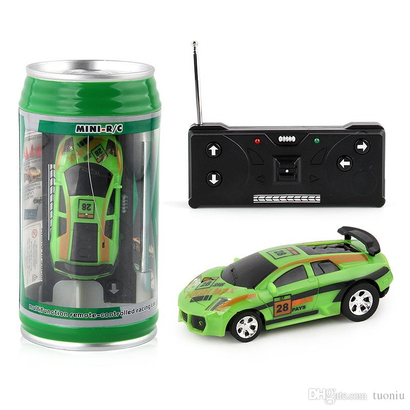 New styles Creative Coke Can Remote Control Mini Speed RC Micro Racing Car Vehicles Gift For Kids Xmas Gift Radio Contro Vehicles
