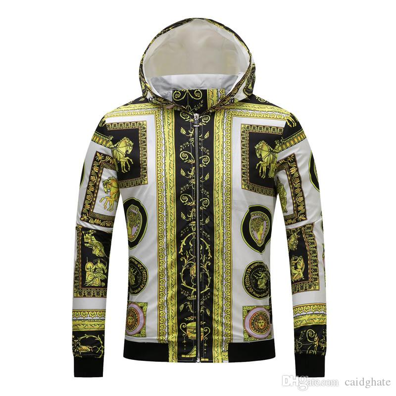 ed051343e753 Autumn Men s Hoodie Jacket Coat Mens Casual Hooded Outwear Zipper ...
