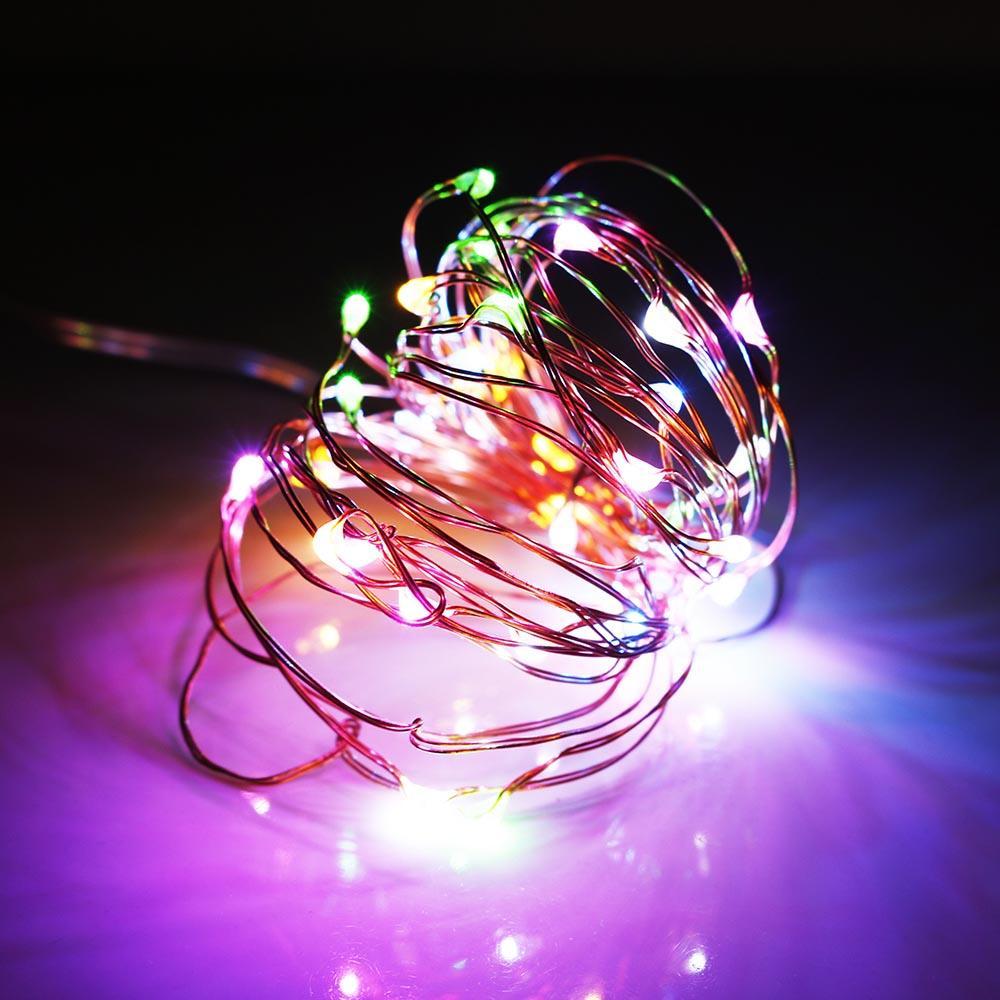 Led String light 10 M 100leds fio de cobre DC12V festival de alta qualidade nova festa de Natal decoração navio rápido ao ar livre IL