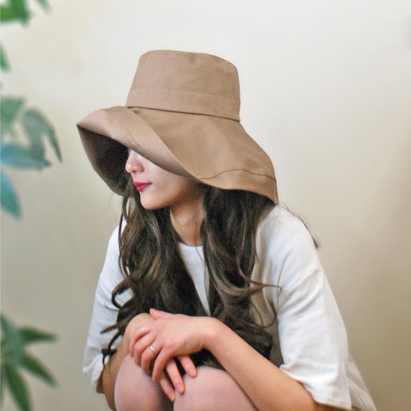 2019 La MaxPa 2018 Summer Big Brim Hats Woman Foldable Defence Ultraviolet  Rays Cap High End Fashion Girls Fisherman Hat Woman D18110601 From  Shen8409 0a7ec411d00