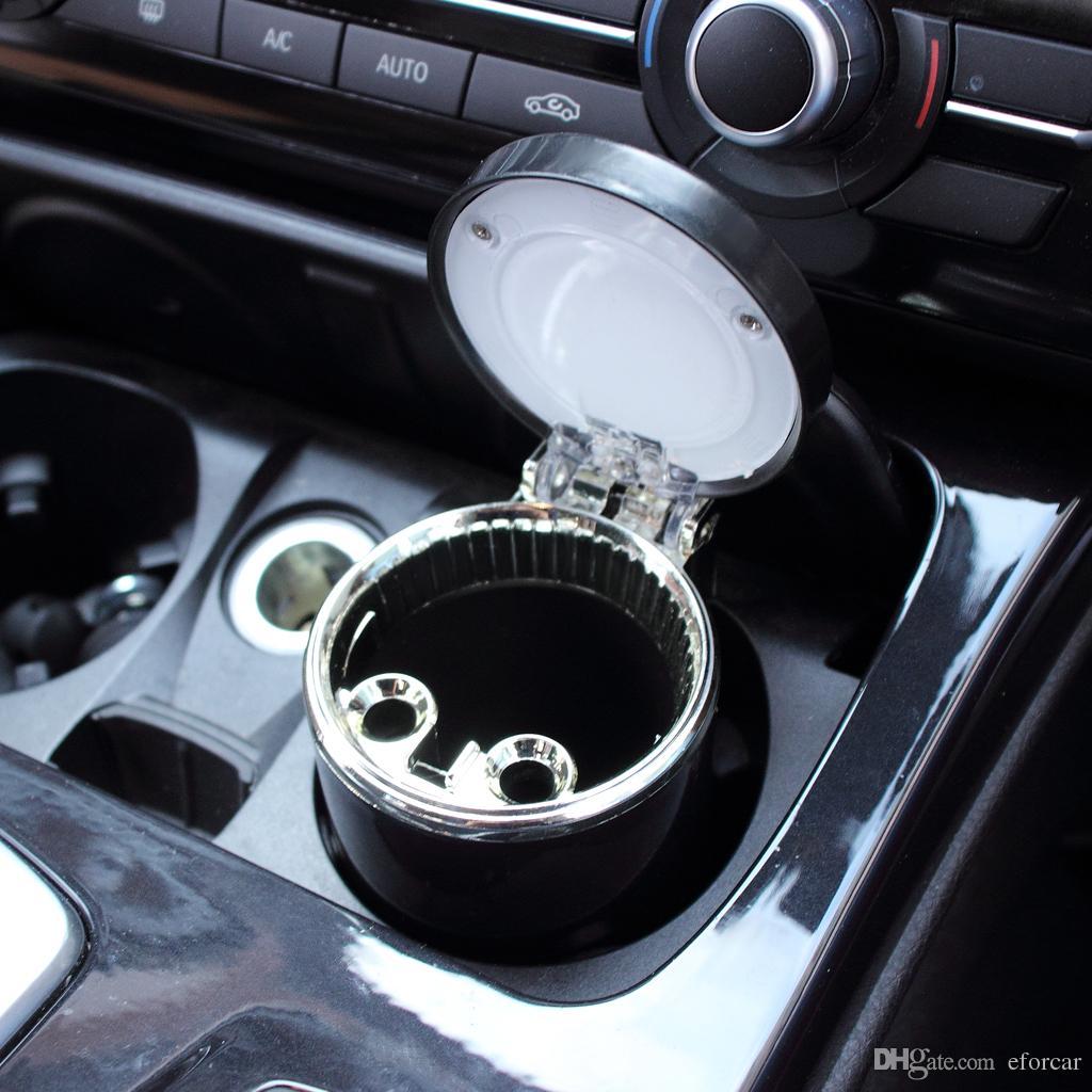 Cenicero del coche único azul llevó la luz del cenicero para el vehículo del coche Cigarrillo del recorrido del automóvil Titular de la ceniza de la taza
