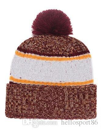 e31d7ff42c2 2019 New Beanie With Pom Pom Beanies Hip Hop Snapback Sports Hats Custom  Knitted Cap Snapbacks Popular Hat Cap Winter Warm Hooded Hats Mens Hats  Straw Hat ...