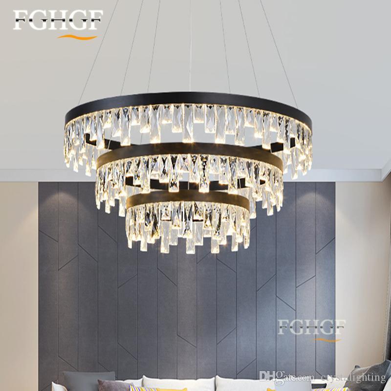 Großhandel Neue Design Kurze Moderne Kristall Kronleuchter Licht ...