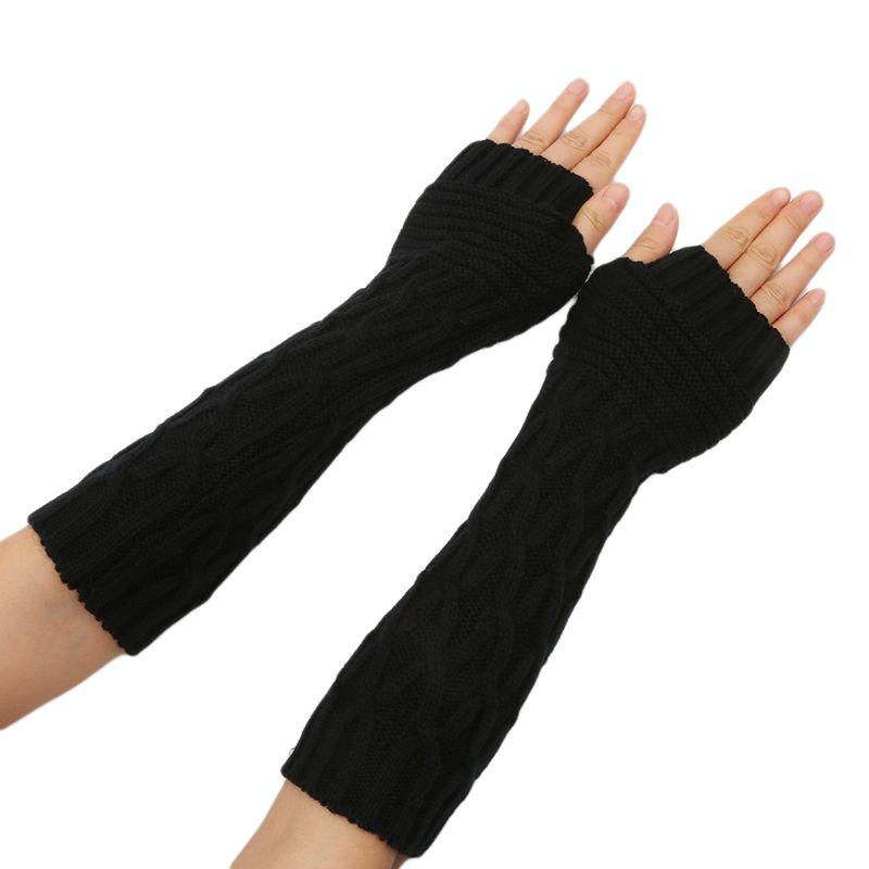 Neue Frauen Frühling Herbst Winter Arm Wärmer Ärmeln Mädchen Frauen Fingerless Handschuhe Armstulpen Bekleidung Zubehör