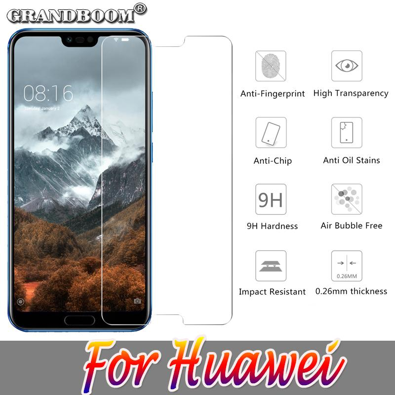 50pcs 2 5D Tempered Glass Guard Shield For Huawei Honor V10 V9 V8 7X Screen  Protector Toughened Protective Glass Film
