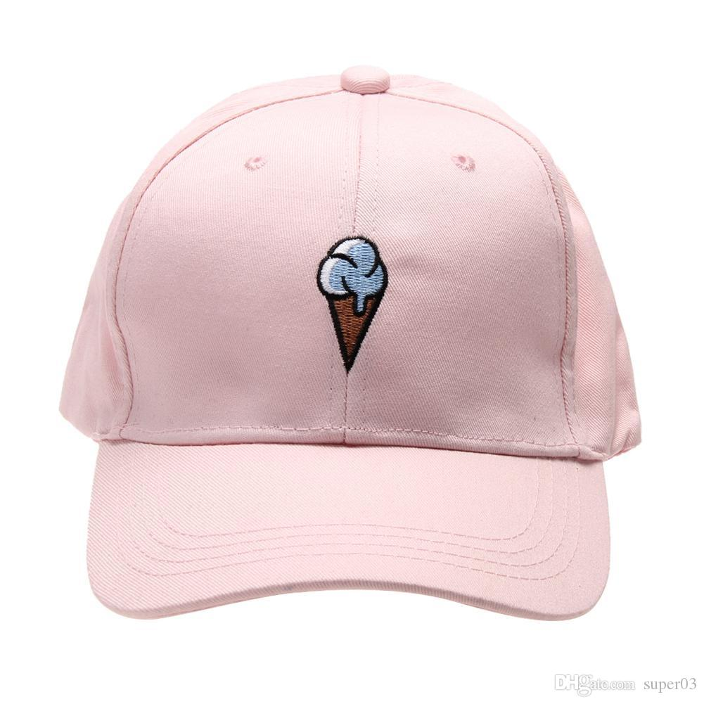 36f48dc1cd92f3 2018 New Cotton Hat Ice Cream Embroidered Baseball Cap For Men And Women  Sun Hat Snapback Caps Outdoors Cotton Can Kangol Baseball Caps From  Super03, ...