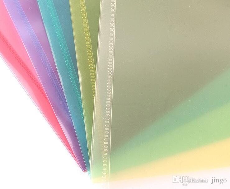 ملف A4 مجلد من البلاستيك الشفاف وثيقة حقيبة غلق بمشبك زر تصنف تخزين القرطاسية حقيبة حامل ملف الإقليم الشمالي لوازم 1 لوت = 12p جيم =