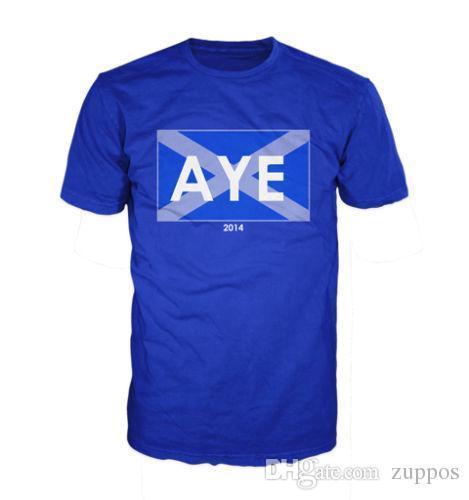2e35926b 2018 Fashion Casual AYE, SCOTTISH INDEPENDANCE TEE, POLITICAL, SCOTLAND YES  Funny Printing T Shirts Men Short Sleeve T Shirts Shirts With Designs R  Shirt ...
