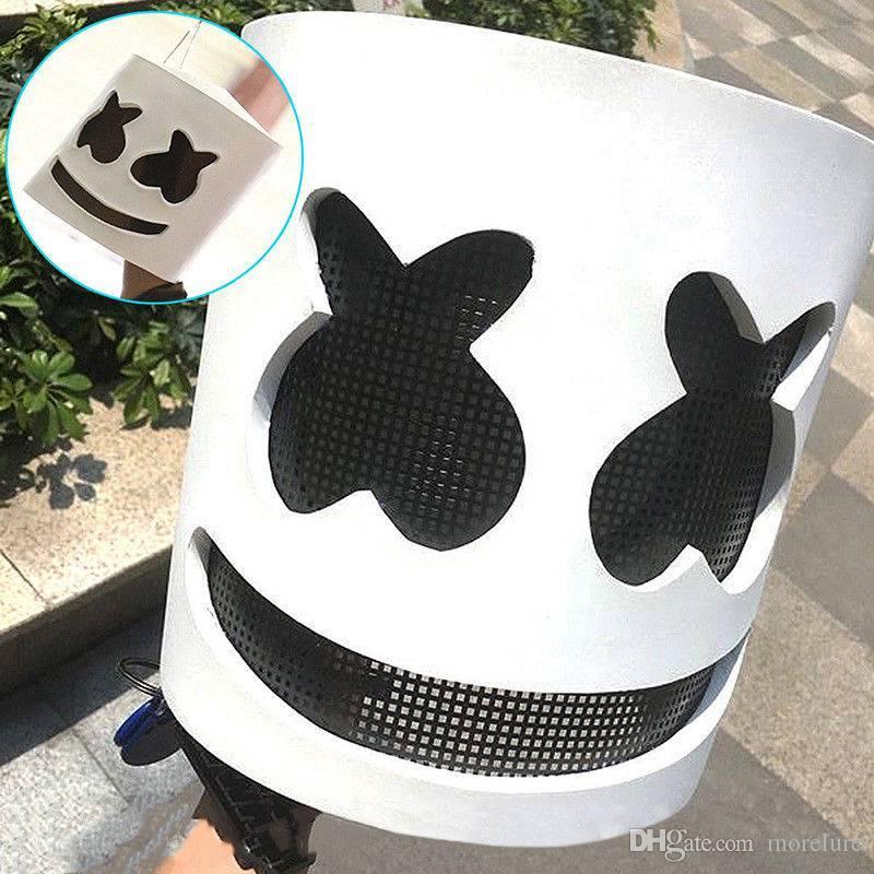 maschera marshmello dj  Acquista MarshMello DJ Mask Full Head Helmet Halloween Cosplay ...