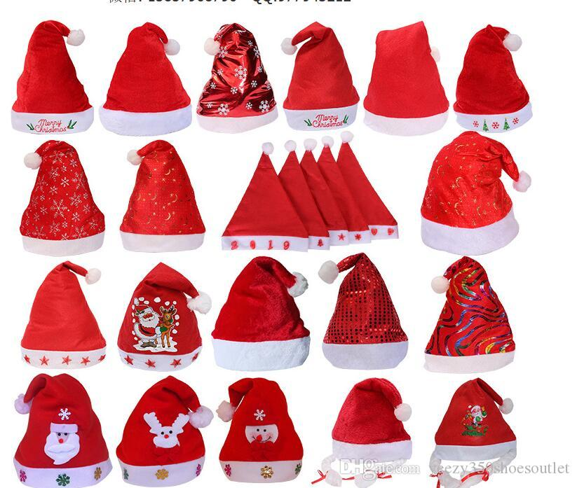 christmas gift ornaments high end adult children short plush christmas hats christmas gifts christmas caps christmas hats online with 438piece on