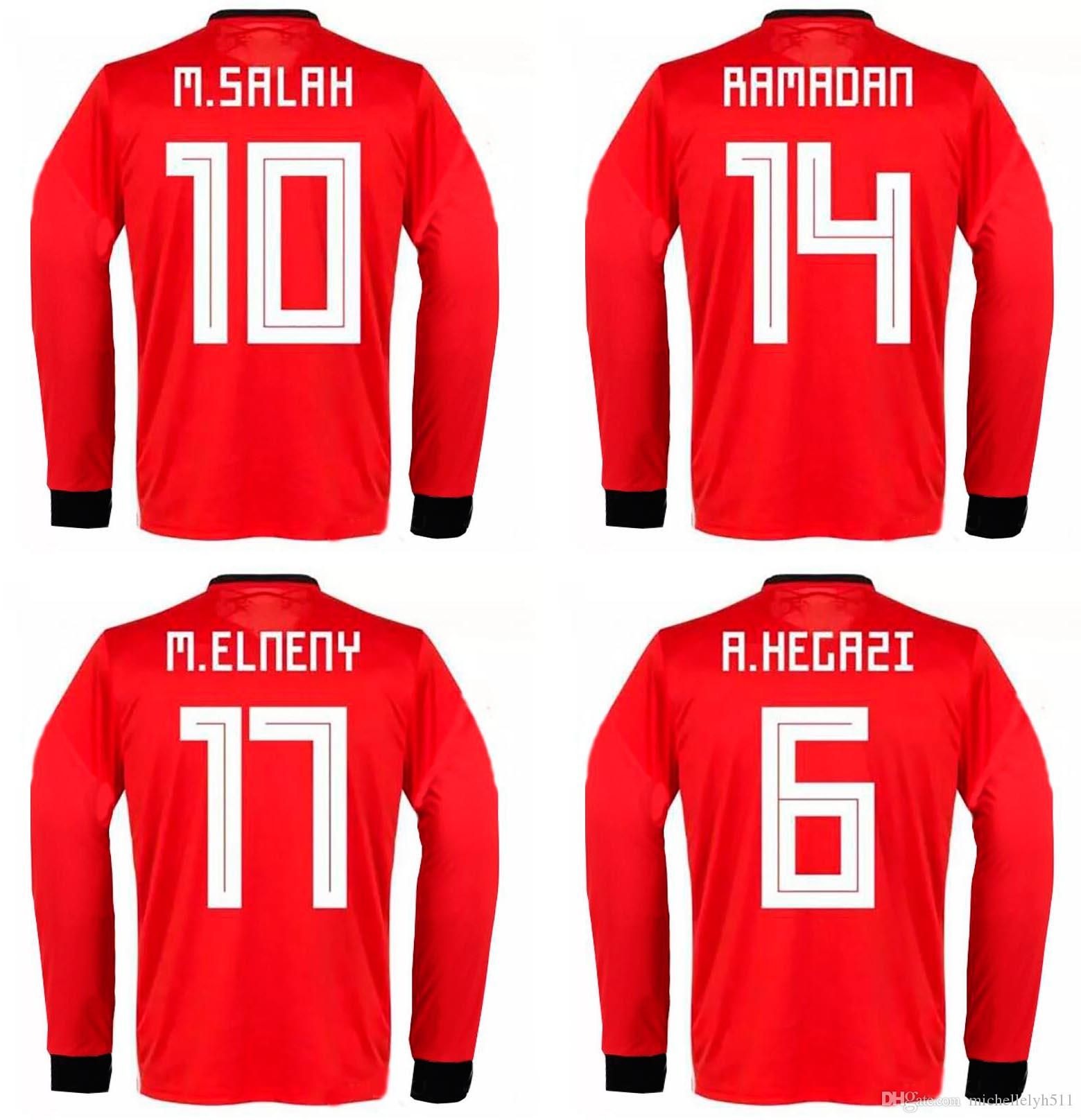 492844959 2019 2018 World Cup Egypt Soccer Jerseys M. SALAH KAHRABA National Team  Football Tops 18 19 Adult Top Thai Quality Long Sleeve Soccer Uniform From  ...