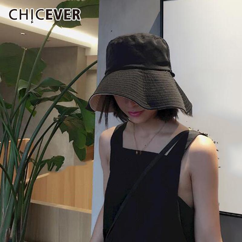 6730e01a CHICEVER Summer Autumn Hat For Women Cap Casual Flat Sun Visor ...