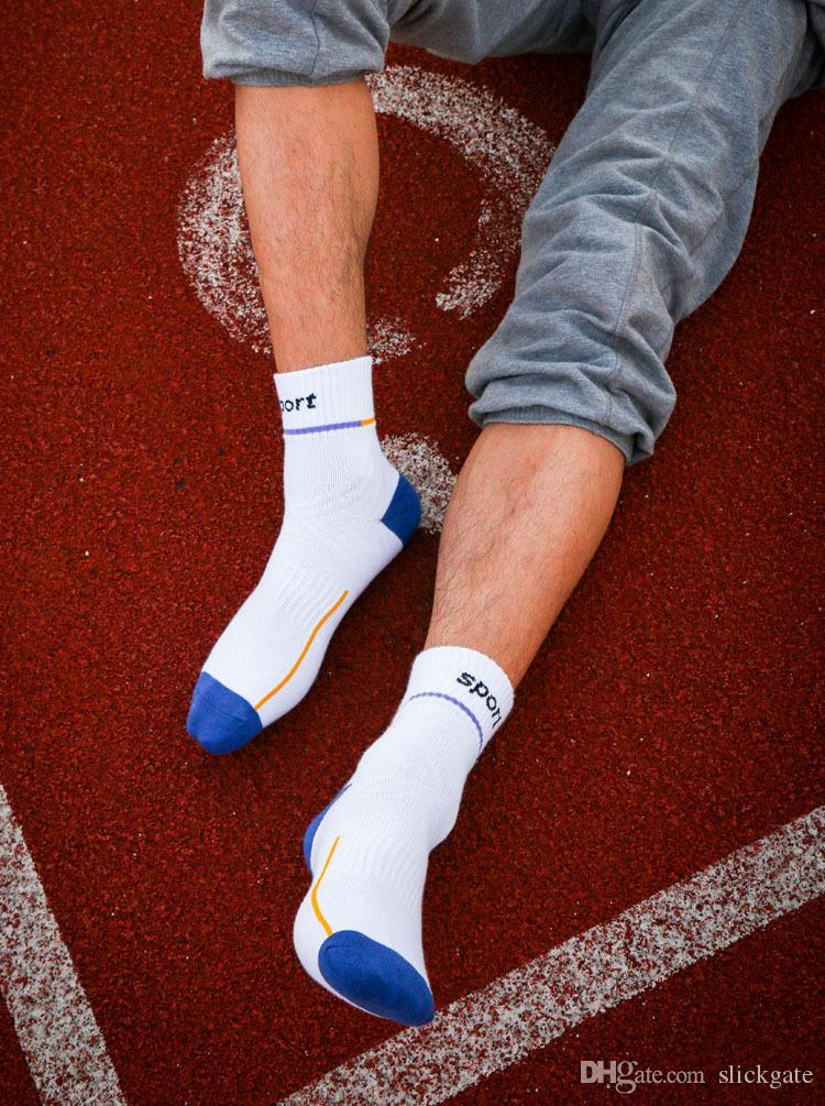 5 Style Men Boy Warm Football Socks Basketball Sports Mens Athletic Socks Cotton Anti Slip Cycling Climbing Running Socks G509S