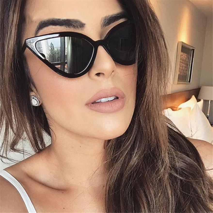 03d5ec03a0 Compre Gafas De Sol Para Mujer Lentes De Espejo Moda Para Mujer Gafas De Sol  Gafas De Sol UV Integradas Gafas De Colores Frescas Lunette De Soleil Femme  A8 ...