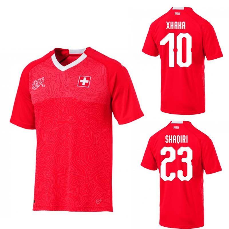 Acquista 2018 World Cup Svizzera Soccer Jersey Home Thai Qualità EMBOLO  XHAKA RODRIGUEZ ZAKARIA SHAQIRI Maglie Squadra Nazionale Maglie Da Calcio A   17.77 ... 58885d52c