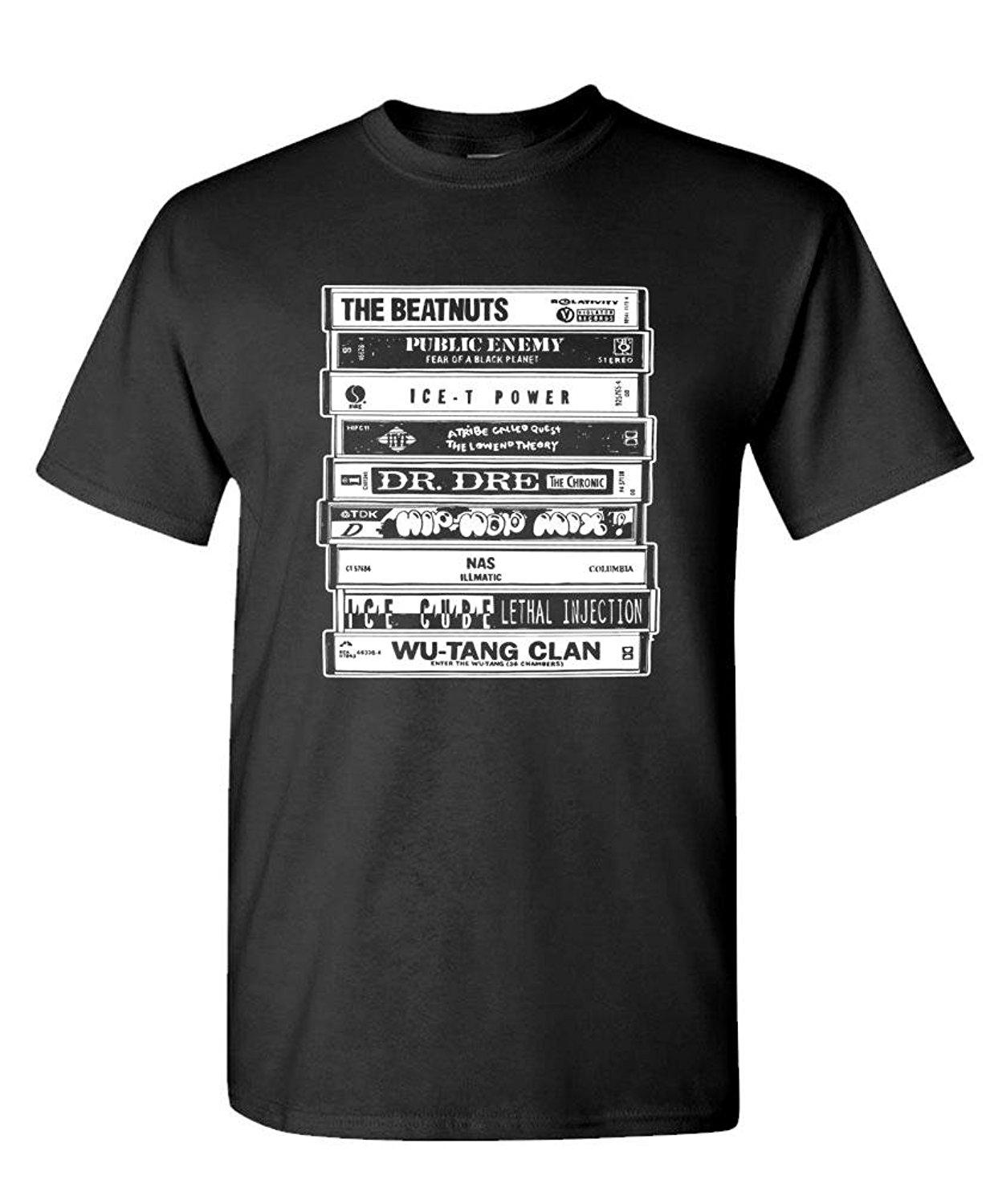 Hip Hop Artists Cassettes Old School Rap - Mens Cotton T-shirt Fashion Men  T Shirt Free Shipping Top Tee Chinese Style
