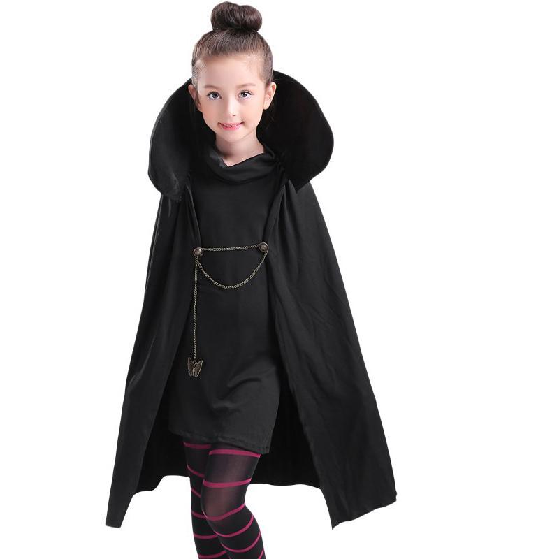 Cartoon Hotel Transylvania Mavis Cosplay Costume Fancy Girls Black ... 3fd2b371b0
